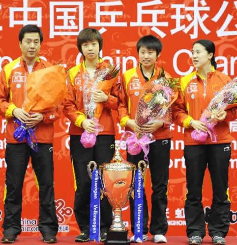 中国女队捧杯合影