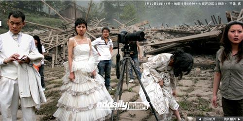 Wedding photog captures China quake Img256926746