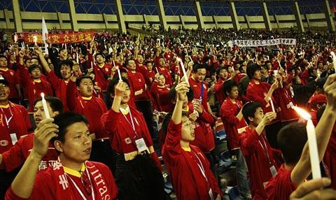 图文:[中超]球迷标语催人泪下 长春球迷哀悼