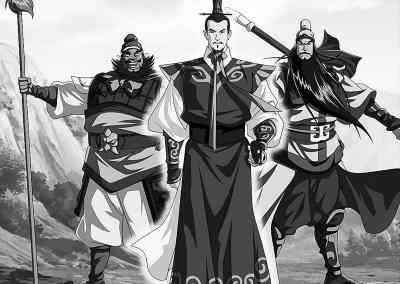 动画版《三国演义》中刘备,关羽,张飞的造型