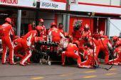 图文:[F1]摩纳哥站排位赛 法拉利维修区