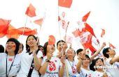 图文:苏州市民喜迎火炬到来