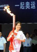 图文:羽毛球奥运冠军葛菲跑入结束仪式现场