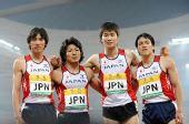 图文:中国田径赛男子4X400米接力 日本队亚军