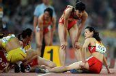 图文:中国田径赛女子4X400米接力 广东获季军