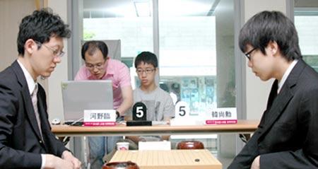 图文:LG杯世界棋王战首轮赛况 两人进入对战