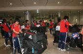 图文:[亚洲杯]女足抵达越南 机场大厅
