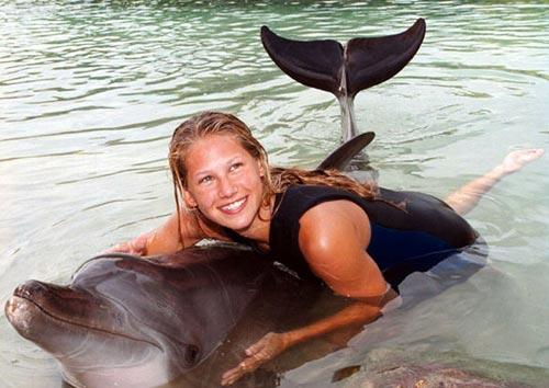 与海豚亲密接触