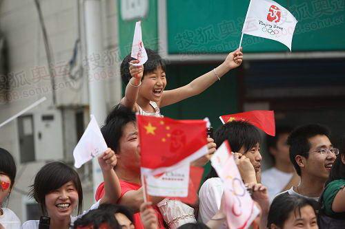 市民喜迎奥运圣火