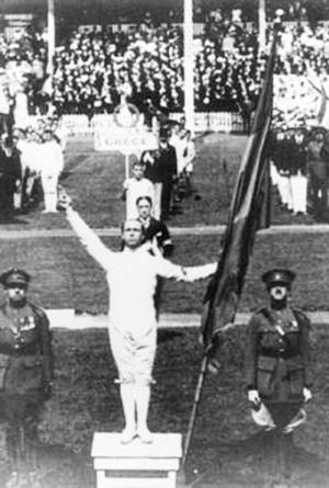 比利时运动员博昂代表运动员宣誓