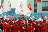 图文:合肥市民为北京奥运圣火加油
