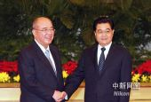 图文:胡锦涛会见中国国民党主席吴伯雄