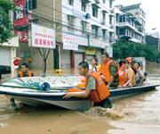 洪水遇险,救援,视频