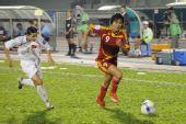 图文:[亚洲杯]女足VS越南 韩端边路高速突破