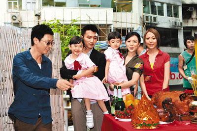 谢霆锋与张家辉、张静初、钟舒漫参加电影《证人》开镜礼