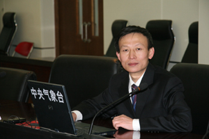 中央气象台首席预报员乔林。