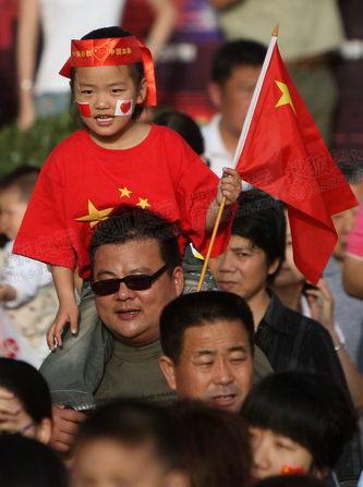 上阵父子兵 祝福奥运