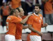 图文:[友谊赛]荷兰1-1丹麦 禁区之王庆祝进球