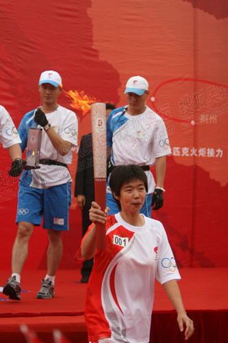 网球奥运冠军李婷起跑