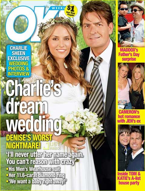 查理-辛与他的第三任妻子