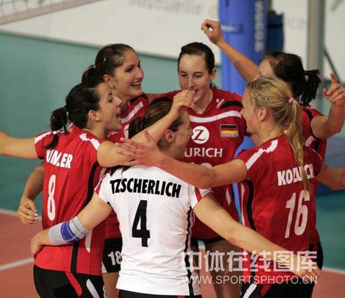 德国队球员庆祝得分