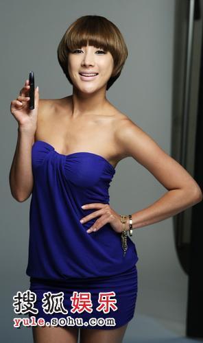 韩国女星徐仁英拍广告