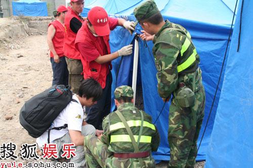 黄磊与解放军、志愿