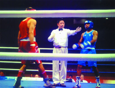 王珏在好运北京测试赛中执法