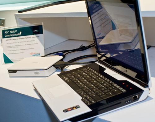 ATI XGP笔记本外置显卡真机展示