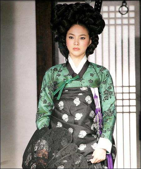组图:韩国女星绝美古装造型