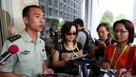 黄尚文接受媒体采访