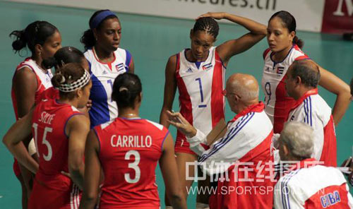 古巴教练布置战术