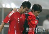 图文:国足0-1卡塔尔 韩鹏痛哭流涕