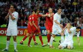 图文:葡萄牙2-0完胜土耳其 土队员满脸遗憾