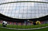 图文:奥地利0-1克罗地亚 点球射入网底