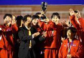 图文:[亚洲杯]中国1-2朝鲜 朝鲜队庆祝