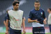 图文:意大利赛前最后训练 博列洛和甘贝里尼