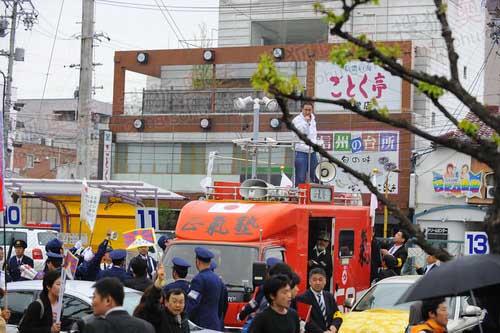 日本右翼组织的宣传车
