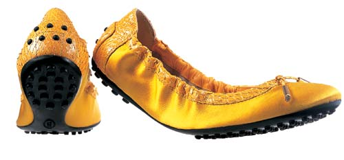 装蛇皮包边芭蕾舞鞋 港币2900元