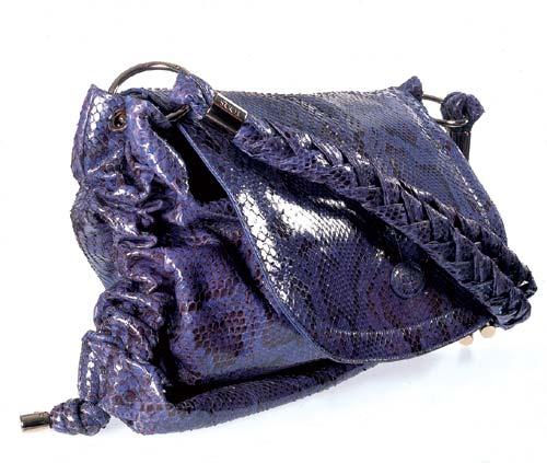 大Size紫色蛇皮女装包 港币28700元