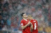 图文:土耳其队2-1逆转瑞士队 瑞球员仰天长叹