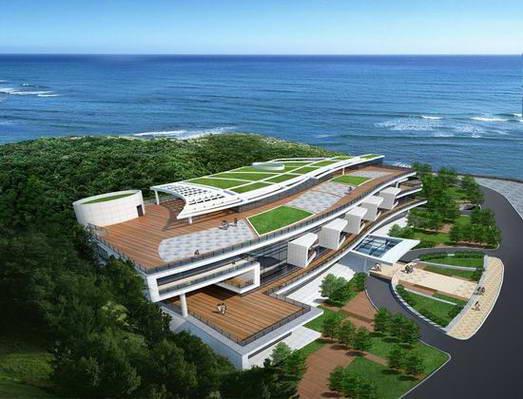 图文:青岛奥林匹克帆船中心 接待中心效果图