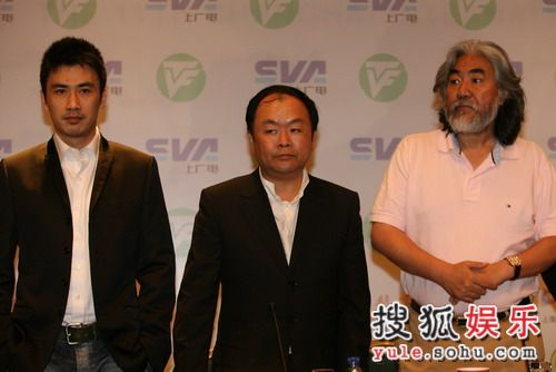 评委柳云龙、高希希和评委会主席张纪中