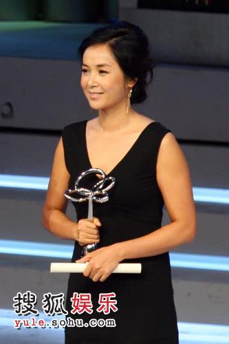 蒋雯丽获得最佳电视女主角奖