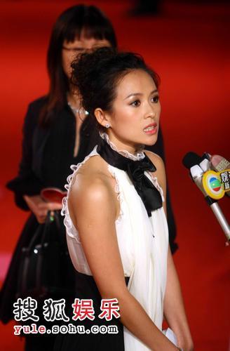 图:上海国际电影节 章子怡获杰出贡献奖