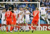 图文:希腊0-1俄罗斯 科洛丁主罚任意球