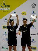 图文;[羽球]新加坡公开赛:杜婧/于洋在领奖台