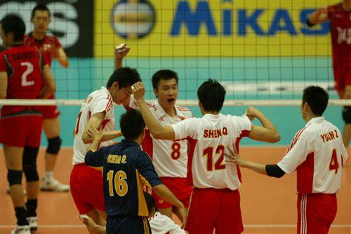 中国队欢呼胜利