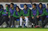 图文:[欧洲杯]葡萄牙VS瑞士 替补席的大佬们