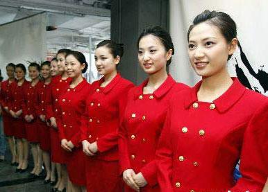 奥运会场馆颁奖仪式礼仪团队的15位姑娘在北京歌华大厦培训基地进行颁奖演练